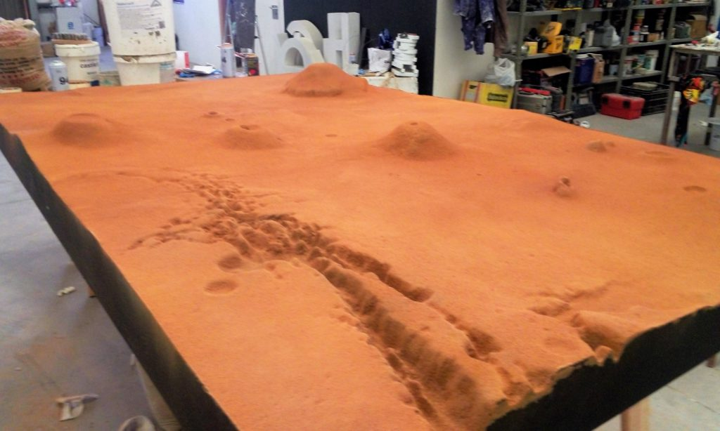 maqueta topográfica marte