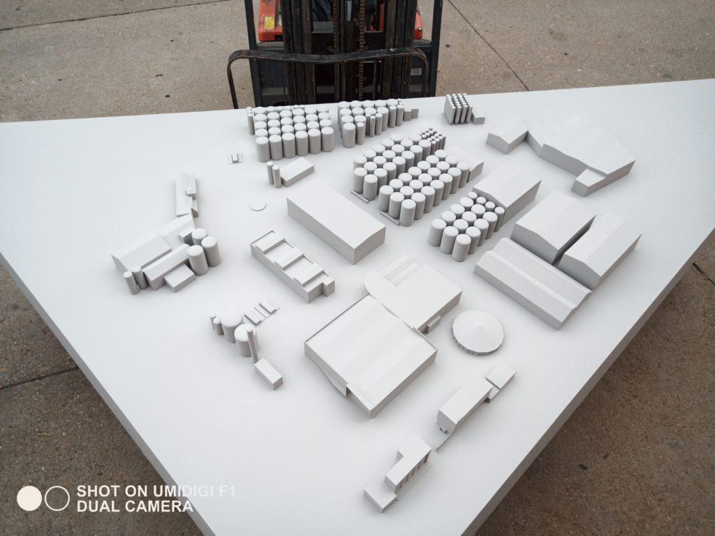 Maqueta arquitectónica bodega 3