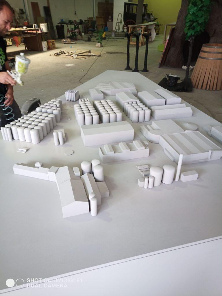 Maqueta arquitectónica bodega 1