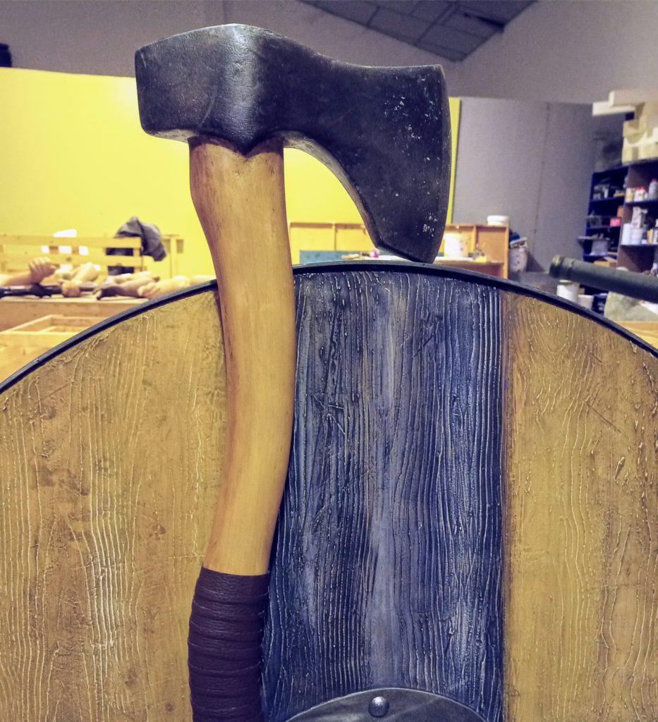 Réplica hacha vikingos